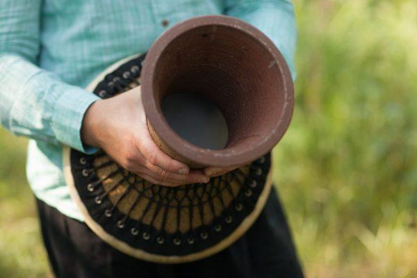 дохола керамический барабан в drum space дарбука doholla кожаная мембрана