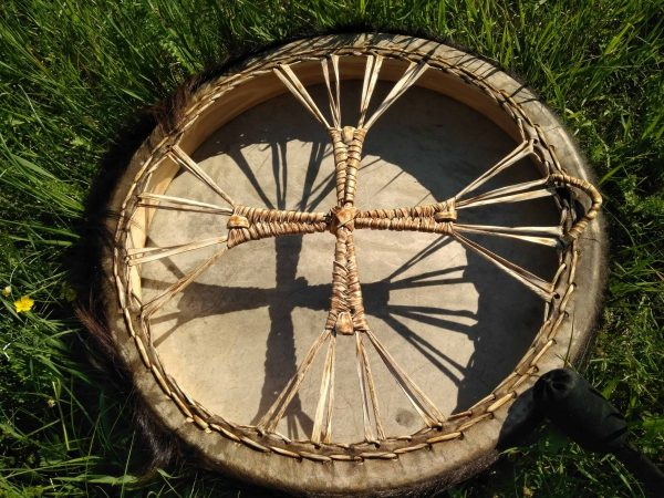 бубен шаманский кожа барабан с колотушкой ручная работа