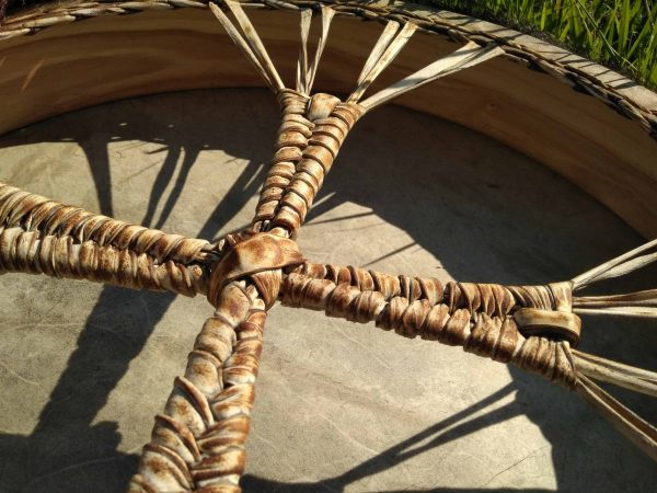 бубен шаманский кожа козы этнический барабан