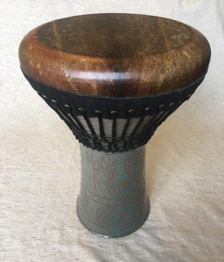 doholla этнический барабан керамика с кожаной мембраной