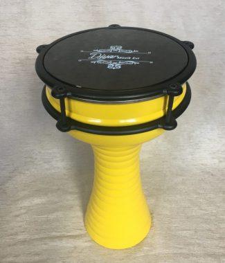 этно барабан дарбука алюминий желтая