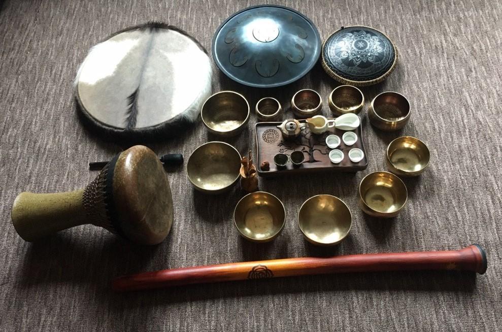 тибетские чаги, гонги, диджериду, бубен - звуковая медитация в драм спейс