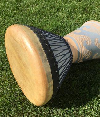 профессиональный этнический барабан - дохола (басовая керамическая дарбука, dohola, doholla, clay darbuka)