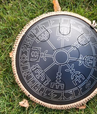 глюкофон steel tongue drum hapidrum guda drum