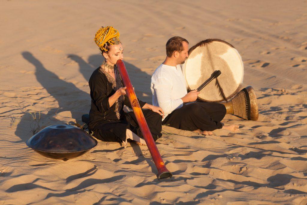 этническая музыка FOX BAY - диджериду, бубен, дохола, хэндпан