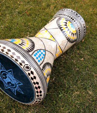 дарбука табла инкрустация этнический барабан купить в Украине Alexandria perl darbuka